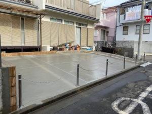 庭がコンクリート