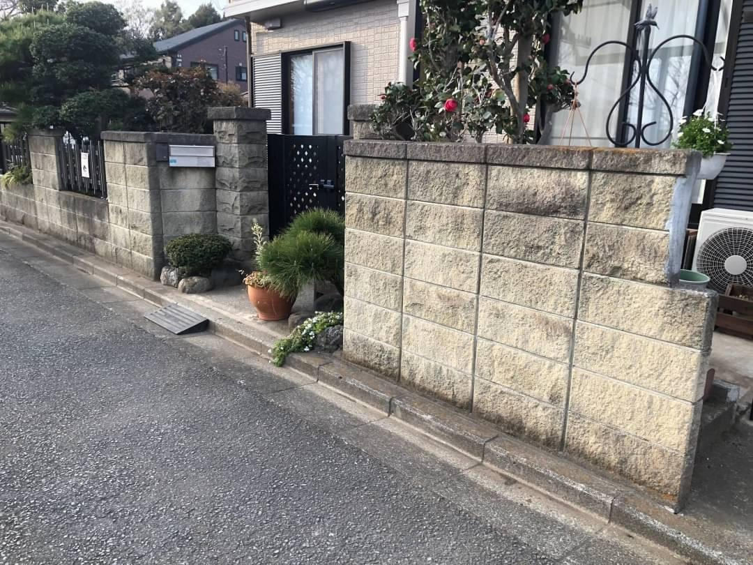 老朽化したブロック塀
